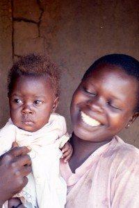 Uganda mom and child